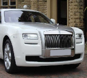 Rolls Royce Ghost - White Hire in Kilwinning