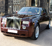 Rolls Royce Phantom - Royal Burgundy Hire in East Midlands