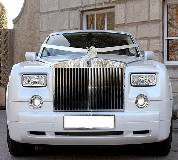 Rolls Royce Phantom - White hire  in Dorset